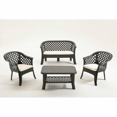 Image of Set Veranda 2 poltrone + divano+ 1 Tavolino