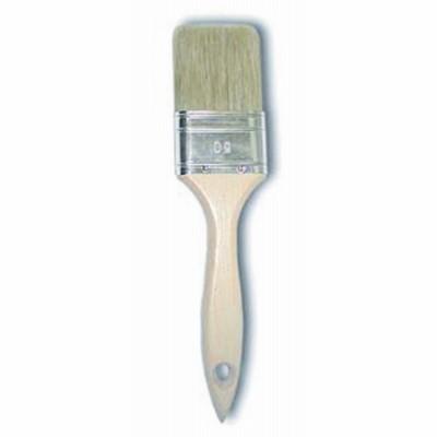 Pennello piatto con manico in legno