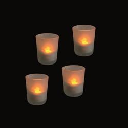 PREQU Tea Light Led - Set 4 Bicchierini Con Batteria